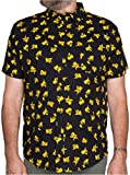 Pokemon Pikachu All-Over Print Button Up Mens Shirt 2X