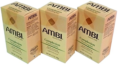 Ambi Complexion Cleansing Bar Soap, 3.5 oz (Pack of 3)
