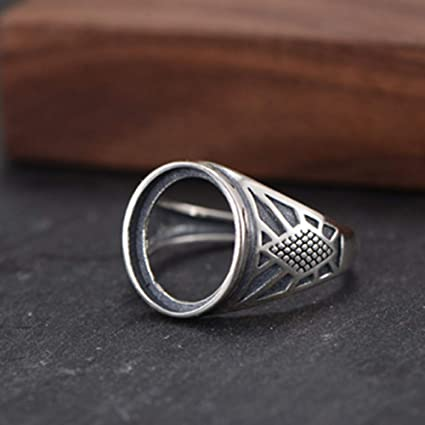 12x16mm13x18mm Oval Blank Adjustable Thai Sterling Silver Ring Base Oval Cabochon Ring Setting R884B Ring Blank
