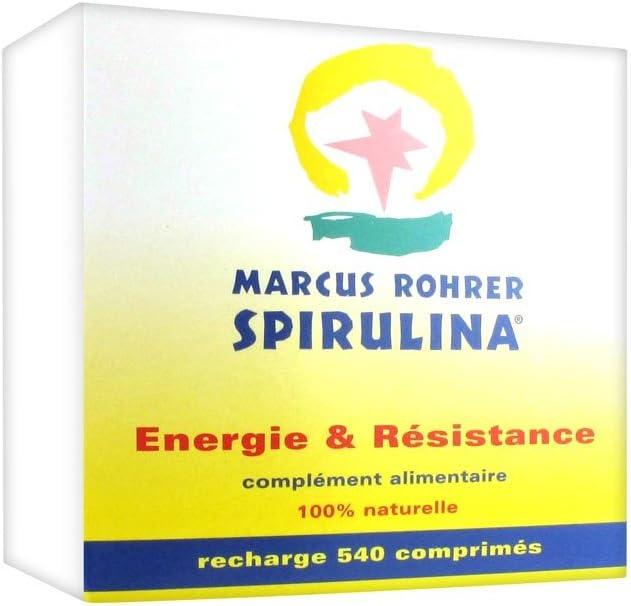 Marcus Rohrer Spirulina recharge 540 comprimes