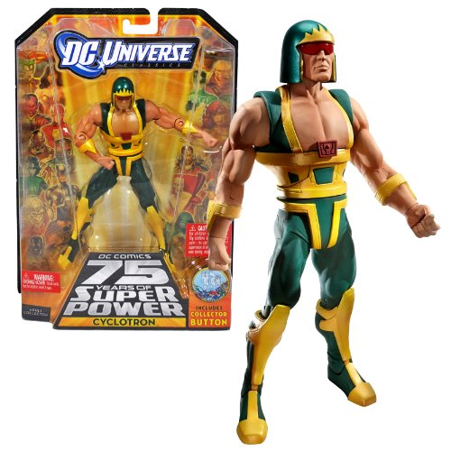 """Mattel Year 2009 DC Universe """"DC Comics 75 Years of Super Power"""" Wave 13 Classics Series 6 Inch Tall Action Figure #3 - CYCLOTRON the Android with Trigon's Display Base Bonus Collector Pin (R5791)"""