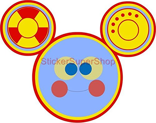 TOODLES Mickey Mouse Clubhouse Disney Decal WALL STICKER Decor Art C244, (Mickey Mouse Toodles)