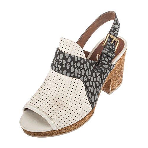 Mjus - Sandalias de vestir para mujer blank BIANCO/DALMATA/BIANCO