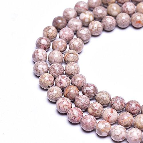 (Asingeloo 6MM Natural Chrysanthemum Stone Jasper Gemstone Round Loose Beads for Jewelry Making(63-65PCS) )