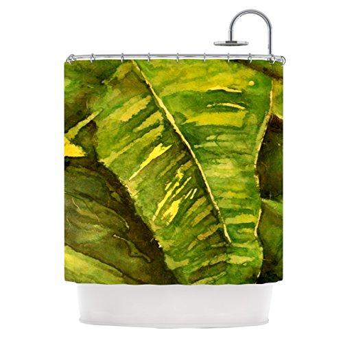 "Nice Kess InHouse Rosie Brown ""Tropical Garden"" Leaf Green Shower Curtain, 69 by 70-Inch"