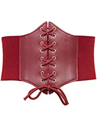 Lace-up Cinch Belt Tied Corset Elastic Waist Belt