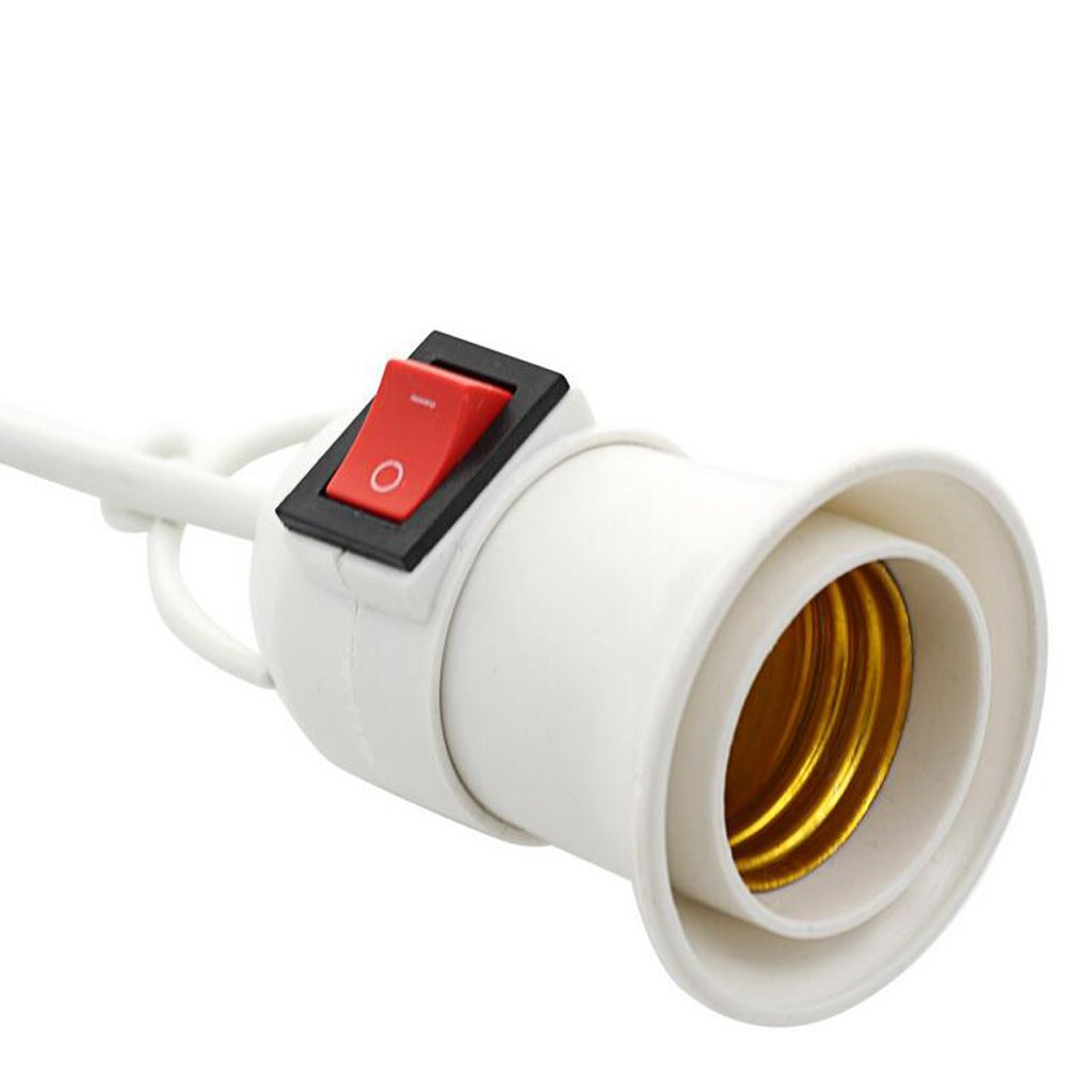 PETSOLA 220V Porte-Lampe E27 avec Interrupteur Support de Lampe Plug EU avec C/âble de 500 cm.
