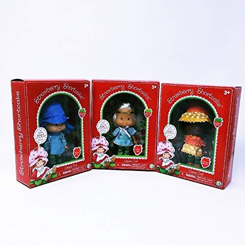 HappyPierrot 3 Strawberry Shortcake Classic Dolls Orange Blossom Blueberry Muffin Angel Cake