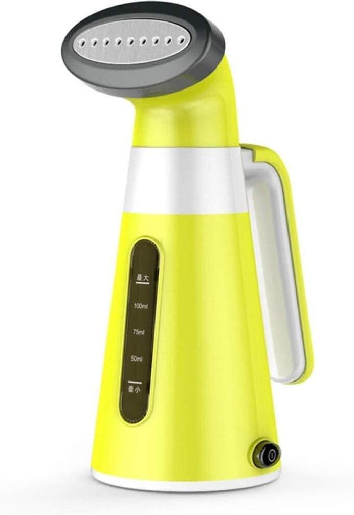 BJYX Mini Irons Accesorios 100ML Capacidad vaporizador de Mano Viaje Vapor Vapor for el Recorrido de Inicio o planchas Verticales de los vapores Vapores Verticales Ropa Vapor portátil (Size : Yellow)
