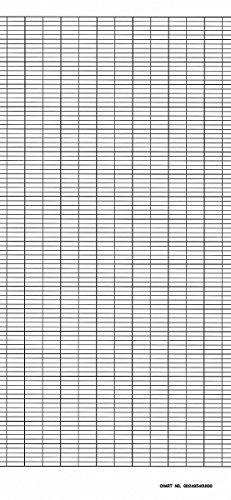 Strip Chart,Fanfold,Range None,73 Ft