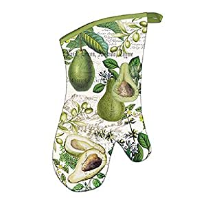 Michel Design Works Padded Cotton Oven Mitt, Avocado