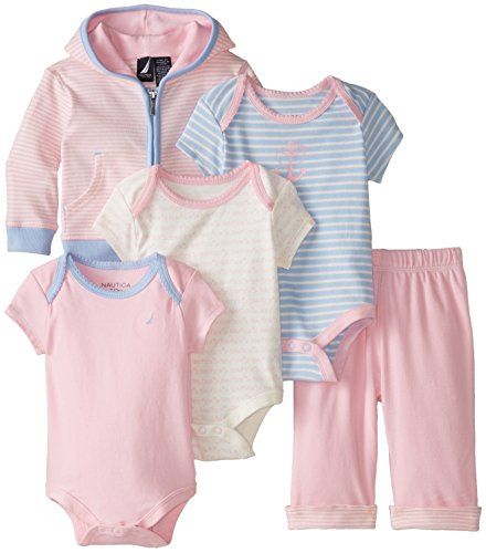 Nautica Baby Girls' Gift Box Set, Light Pink, 6-9 Months
