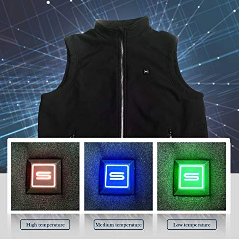 Electric Heated Jackets for Men | Heated Vest/Jacket with 3.7V Battery Pack | Keeps You Warm for Longer | Adjustable Temperature | Portable & Washable | for Indoor & Outdoor Use by Sunbond (Image #6)