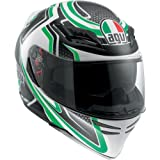 AGV Horizon Racer Helmet , Distinct Name: Racer Green, Gender: Mens/Unisex, Helmet Category: Street, Helmet Type: Full-face Helmets, Primary Color: Green, Size: XL 1301O2D0008010