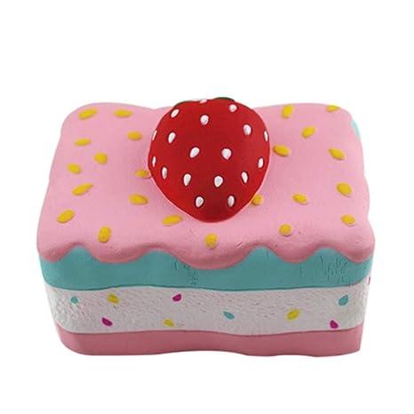 Strawberry Cake Stress Reliever Scented Super Slow Rising Apretón De Juguete Cocinitas Montessori Guardar Coches Transformers
