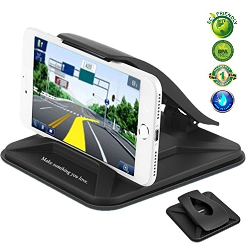Price comparison product image Cell Phone Holder for Car,Car Phone Mount for iPhone 8 Plus Washable Strong Sticky Gel Pad Non-slip Dashboard Car Cradles Dock Stand GPS Holder for Galaxy Note 8 S8 Plus,3-7 inch Smartphone,GPS Device