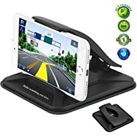 Cell Phone Holder for Car,Car Phone Mount for iPhone 8 Plus Washable Strong Sticky Gel Pad Non-slip Dashboard Car Cradles Dock Stand GPS Holder for Galaxy Note 8 S8 Plus,3-7 inch Smartphone,GPS Device