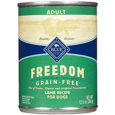 Blue Buffalo Blue Freedom Dog Lamb Dinner Food, 12 By 12 Oz.