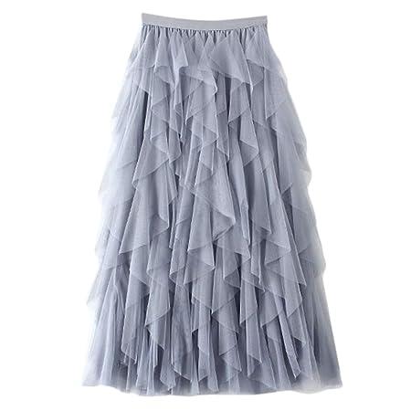 Chenpaif - Vestido largo de tutú para mujer, de cintura alta, con ...