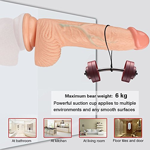 Realistic Dildo PVC Suction Cup Dildo 8 Inch Penis With Strong Suction Cup for Sex (Flesh)