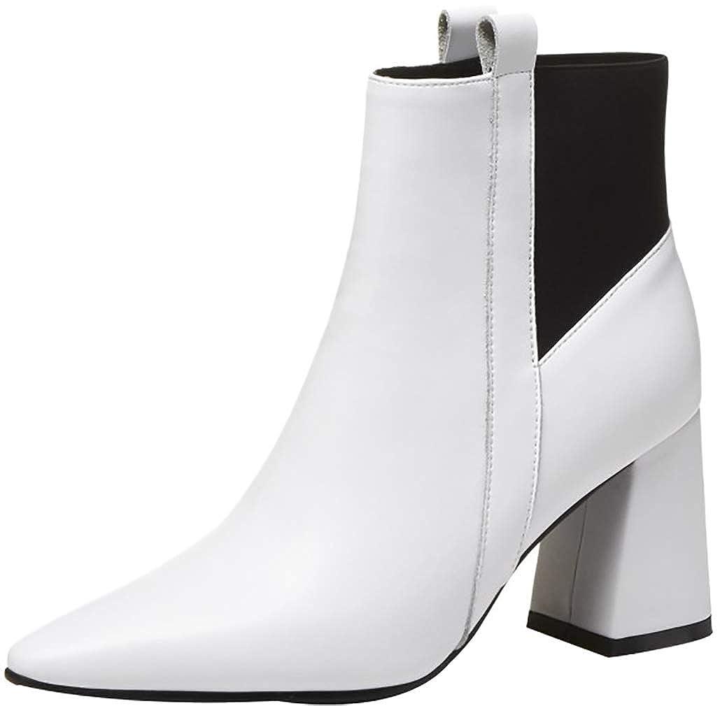 Calaier Damen ankxit 7CM Blockabsatz Ziehen Ziehen Ziehen Sie An Item_Type Schuhe 825353