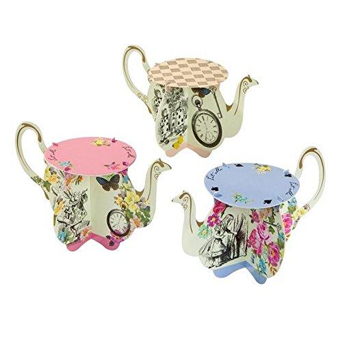 (Talking Tables) 本当にアリスのティーポットカップケーキは、パックごとに6スタンド (x6) - Talking Tables Truly Alice Teapot Cupcake Stands 6 per pack (Pack of 6) [並行輸入品] B074PTSZY9