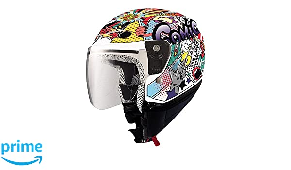 Amazon.es: SHIRO - Casco Shiro SH-20 Comic Micra Kids II Talla YL 53/54 cms