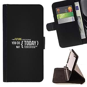 BullDog Case - FOR/LG G3 / - / YOUR FUTURE IS CREATED TODAY /- Monedero de cuero de la PU Llevar cubierta de la caja con el ID Credit Card Slots Flip funda de cuer