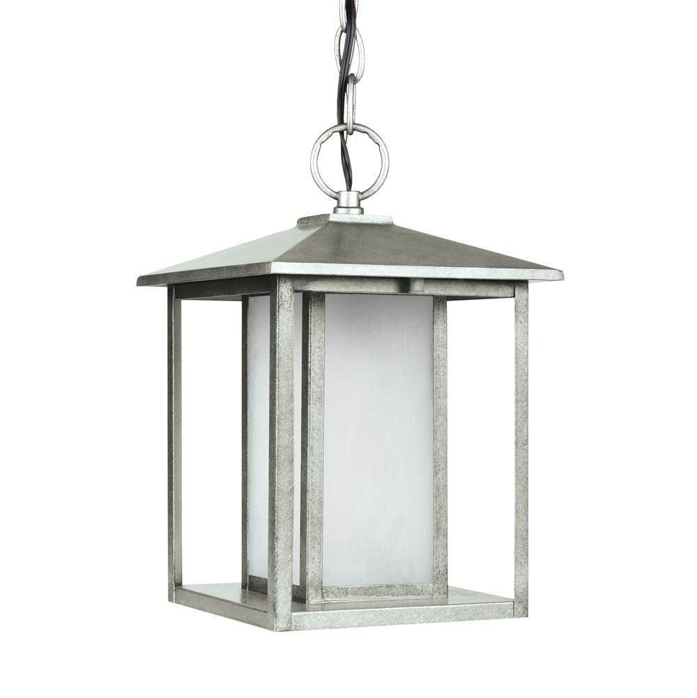 Sea Gull 69029-57 Hunnington Outdoor Pendant, 1-Light 100 Watts, Weathered Pewter by Sea Gull Lighting