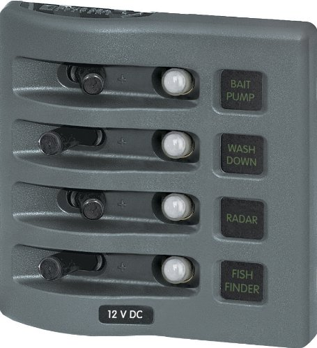 - Blue Sea Systems WeatherDeck 12V DC Waterproof Circuit Breaker Panel - Gray, 4 Positions