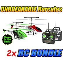 Hercules and Glow in the Dark Hercules Unbreakable 3.5CH RC Helicopter Bundle
