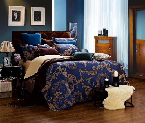 Dolce Mela DM479Q Jacquard Damask Luxury Bedding Duvet Covet Set, Queen