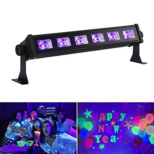 OPPSK Black Lights with 3W x 6 LEDs UV (Best Black Lights For Parties)