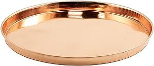 Achla Designs TRY-R12 12 inch Copper Round Tray, 12-inch
