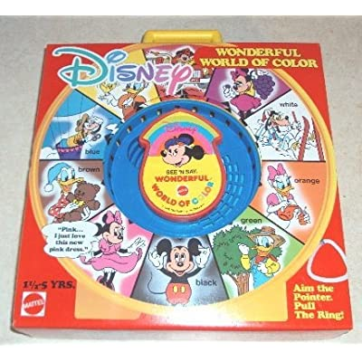 Mattel Disney Wonderful World of Color See 'N Say Talking Toy: Toys & Games