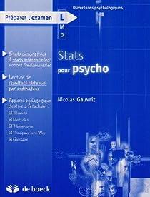Stats pour psycho par Gauvrit