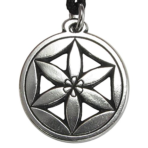 - Pewter Flower of Aphrodite Goddess of Love Pendant Necklace
