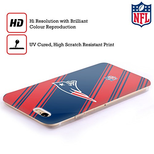 Officiel NFL Rayures 2017/18 New England Patriots Étui Coque en Gel molle pour Apple iPhone 5c