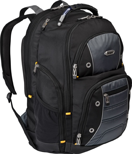 Targus Drifter II Backpack for 17-Inch Laptop, Black/Gray (TSB239US)