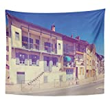 VaryHome Tapestry Ages View Of Streets Medieval Town Salies Du Salat France  Architectural Clouds Home Decor