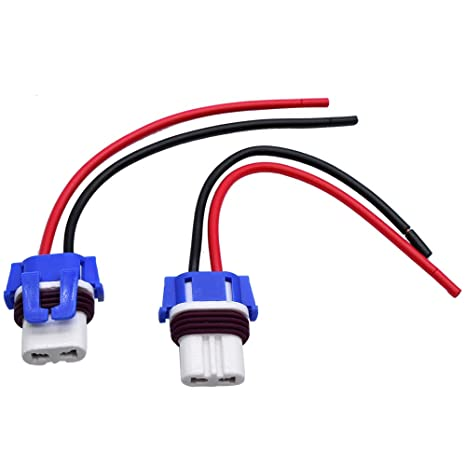 Wire Halogen H10 9145 Ceramic Two Harness Fog Light Replacement Bulb Connector