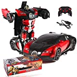 Fantiff 1:14 Rechargeable One-key Deformation Car Robot with Remote Controller 2.4G Toys
