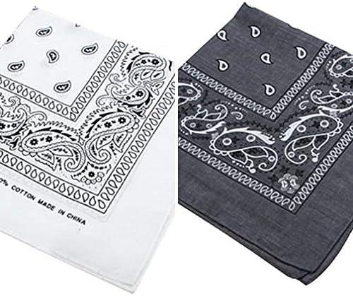 55cm x 55cm Patterned Bandana Black