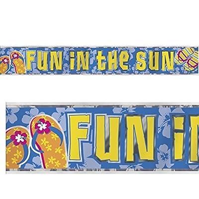 12ft Foil Flip Flop Fun Summer Party Banner