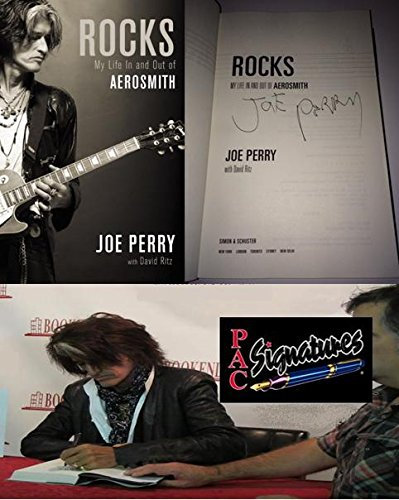 Joe Perry Autographed Rocks Book Aerosmith From Signing with Certificate of Authenticity & Picture From Signing ()