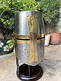 AnNafi Brass Crusader Helmet | Medieval Metal