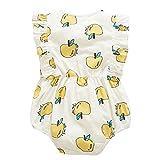 BOBORA Toddler Baby Girls Romper Bodysuit Apple