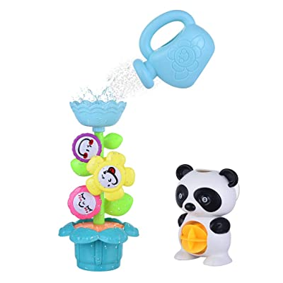 Baby Toddler Bath Toys Set Flower Waterfall Water Station Fun Bath Toy Set, Baby & Toddler Toys (Multicolor), Shipping from The United States: Garden & Outdoor
