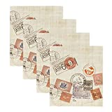 DesignOvation Passport Stamps Travel Photo Album, Holds 440 4x6 Photos, Set of 4