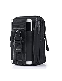 Tactical Waist Bag,Molle Tactical Bag,Canika Men's Waterproof Outdoor Tactical Molle Pouch Belt Waist Packs for iPhone 8 6s 8 Plus Samsung Galaxy S8 Plus (Black)